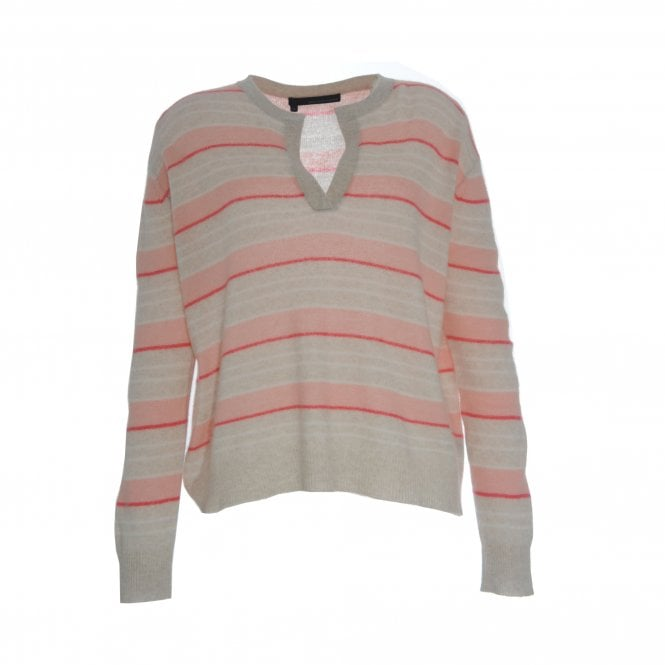 Rosa Open Neck Stripe Jumper
