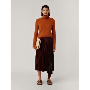 Sabin Pleat Midi Skirt