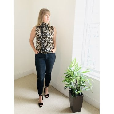 Sleeveless Leopard Top