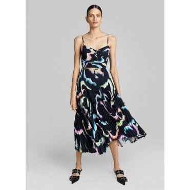 Sonali Butterfly Print Pleat Skirt