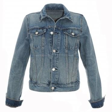 Sqaure Shoulder Denim Jacket