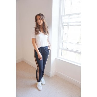 Stephanie Stripe Side Track Pant