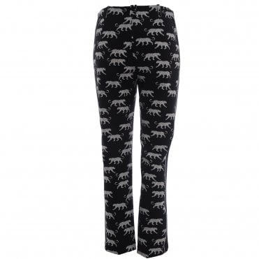 Stretch Pants With Leopards