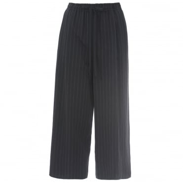 Striped Drawstring Culottes