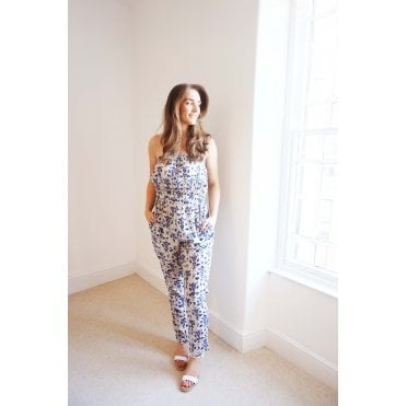 Timea Diamond Print Jumpsuit