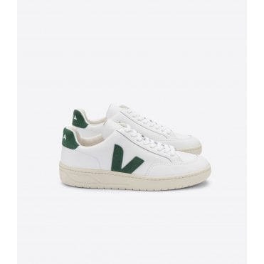 V-12 Leather Extra White Cyprus Trainer