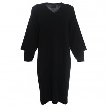 V-Neck Double Sleeve Dress