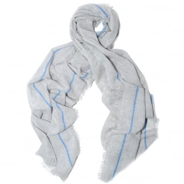 Vala Grey Stripe Scarf