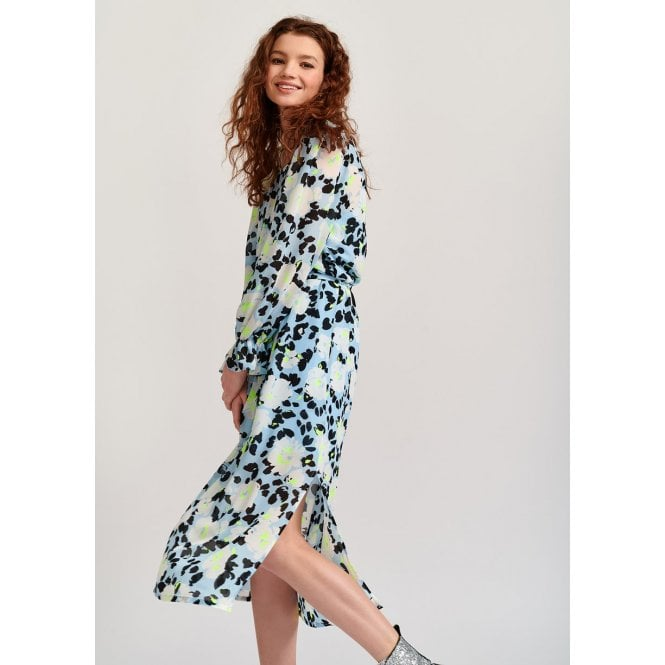 Vekken Floral Belted Midi Dress