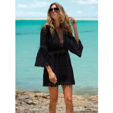 Victoria Black Kaftan Dress