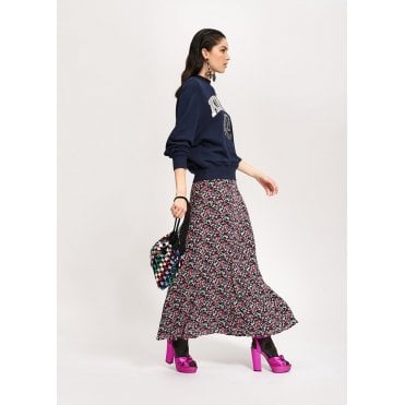 Voluptuous Floral Wrap Skirt