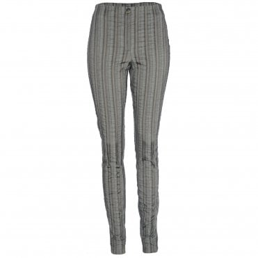 Willy Khaki Stripe Skinny Trouser