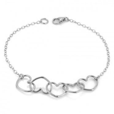 Written Multi Heart Bracelet