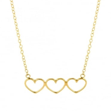 Written Multi Heart Necklace