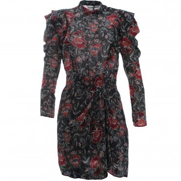 Yoana Print Silk Mini Dress