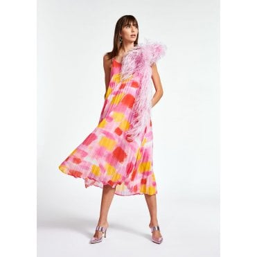 Zague Print Pleat Maxi